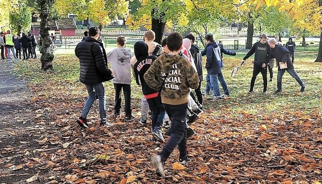 Elevene ved Sofienberg skole har tatt i bruk deler av Sofienbergparken i skolens friminutter.