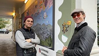 – Vi elsker farger! St. Hanshaugen har akkurat fått et kult nytt gatekunstverk