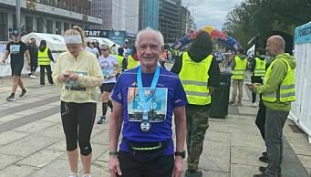 Veteranløper Kjell Olav (79) fra Røa med ny bestetid i Oslo Maraton: - Regner med å vinne klassen neste år