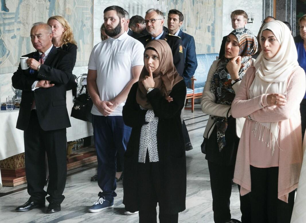 Oslo har i dag ingen dialoggrupper fra ulike trossamfunn. Bildet er fra 2014 og et dialogmøte i Rådhuset. Fra v. forstander Ervin Kohn fra Det Mosaiske Trossamfund, Faten Mahdi Al-Hussaini, Sara Al Jabouri og Hanin Al-Rubaye.