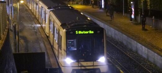 Ni mindreårige er mistenkt for ran ved Borgen T-banestasjon