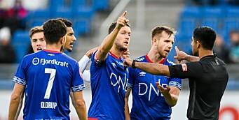 TV-bilder viser at Molde-spiller snubler før straffe. Dommertabbe kan ha snytt Vålerenga for tre poeng