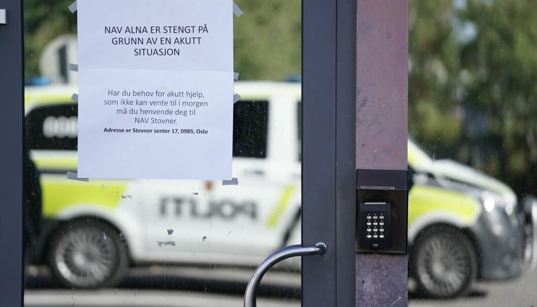 Nav-kontoret i bydel Alna i Oslo stengte onsdag formiddag etter en trussel.