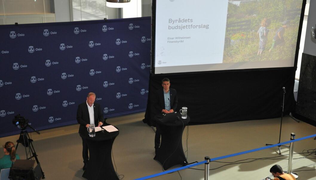Byrådsleder Raymond Johansen (Ap) og finansbyråd Einar Wilhelmsen (MDG) er som så ofte før trolig helt avhengige av Rødts stemmer i bystyret for å få budsjettflertall.