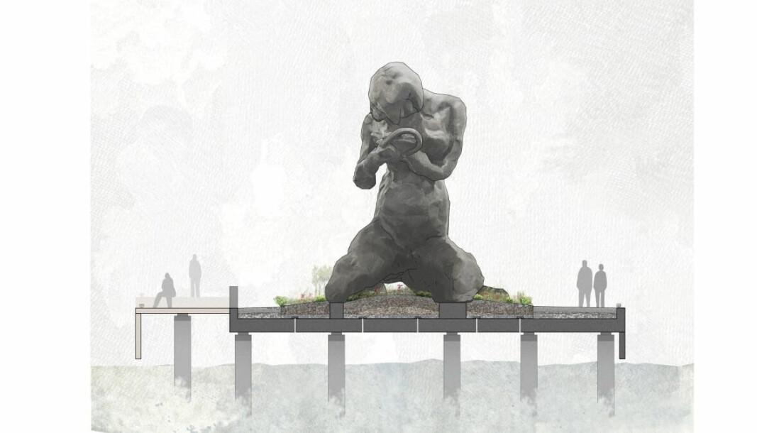 The Mother, med illustrasjon som viser størrelsen.