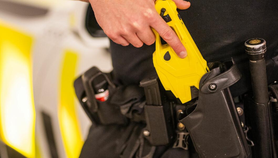 Tirsdag avfyrte politiet i Oslo et skudd med elektrosjokkvåpen. Illustrasjonsfoto: