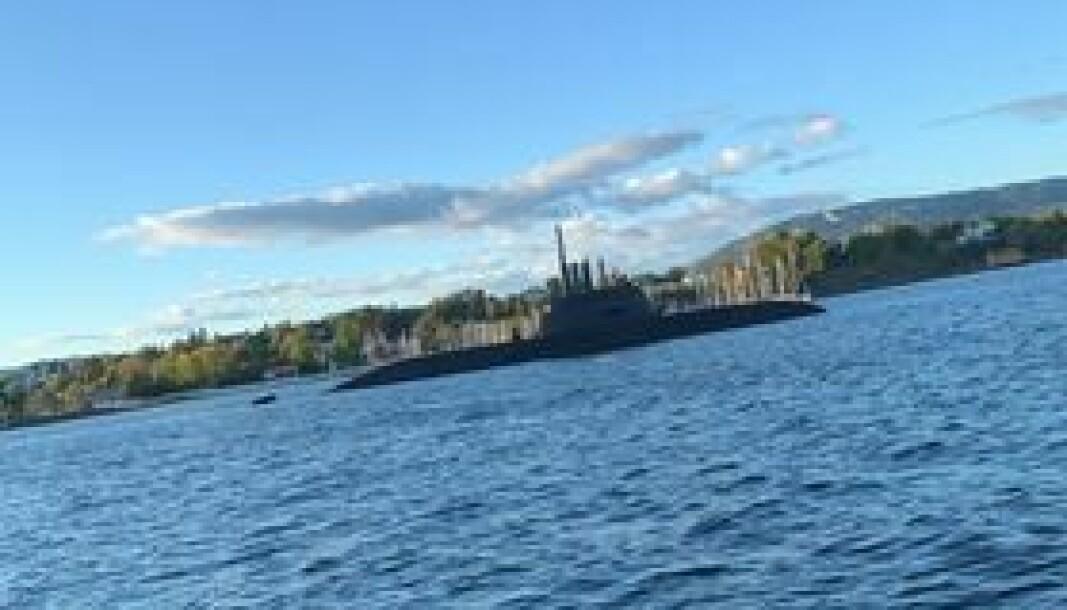 Heidi Michaela Andersen fikk øye på en u-båt rett innenfor byøyene.