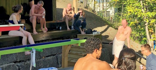 Dagen Oslo åpnet igjen etter 553 dager, åpnet også den første badstua langs Alnaelva