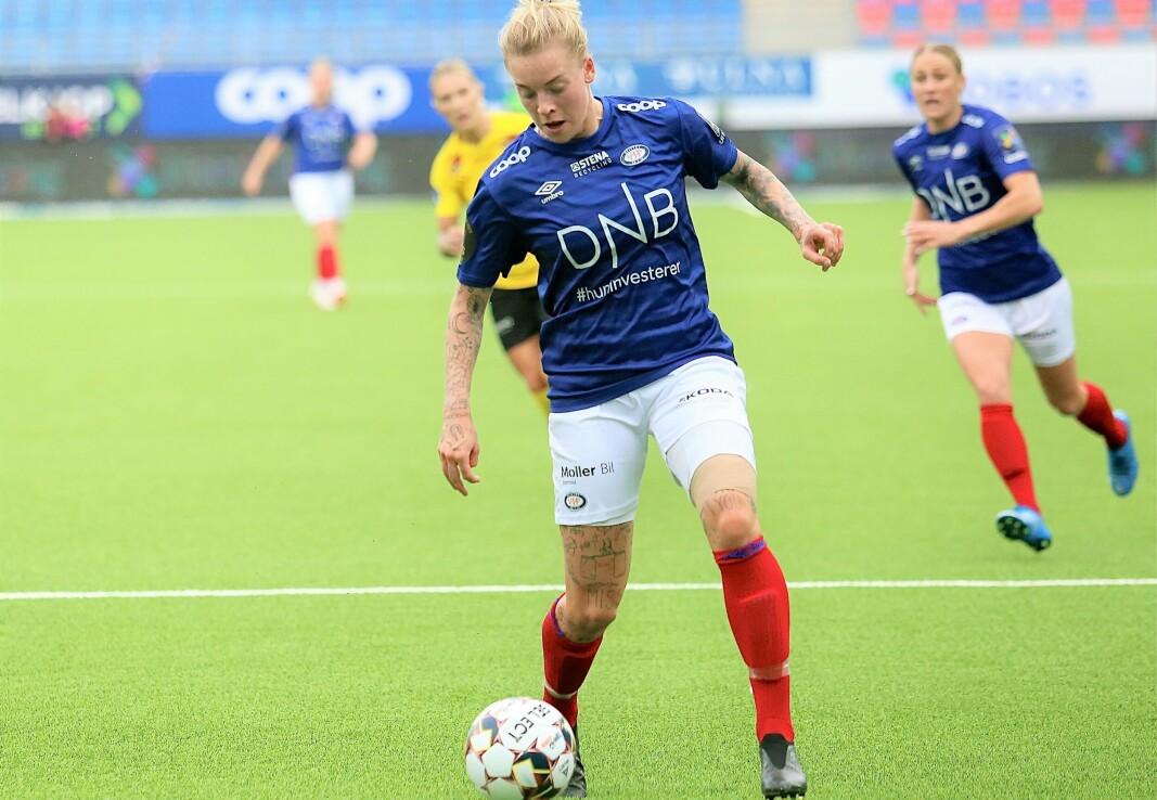 Marie Dølvik Markussen ar vært ute store deler av sesongen med skade. Nå er hun endelig tilbake, og stod bak mye av det Vålerenga skapte offensivt.