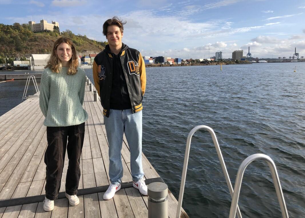 Lara Prohic (t.v.) og Dino Juhas leverer en av ti anbefalinger for den nye fjordbydelen Grønlikaia. Anbefalingen er en av mange fra en medvirkningsprosess styrt av Rodeo arkitekter.