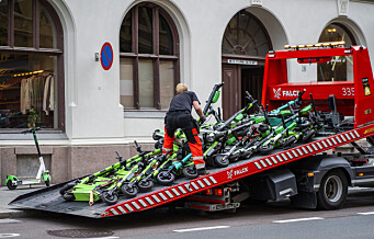 Ingen elsparkesykler tauet inn i Oslo de siste to ukene