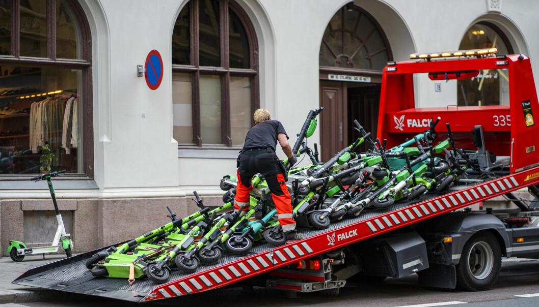 På det meste tauet Oslo kommune inn 165 feilparkerte og henslengte elsparkesykler i snitt per uke.