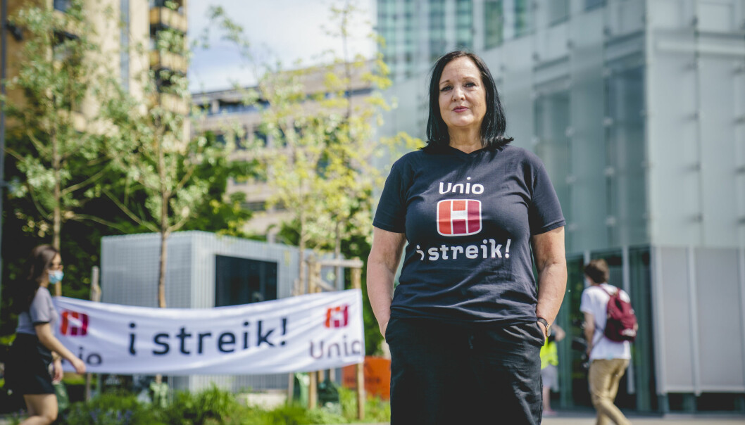 Forhandlingsleder Aina Skjefstad Andersen i Unio er skuffet over kjennelsen, men ikke overrasket over kjennelsen fra Rikslønnsnemnda.