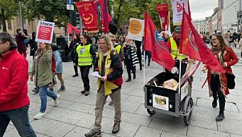 Kulturarbeidere gikk ut i gatene til kamp for rettferdig pensjon