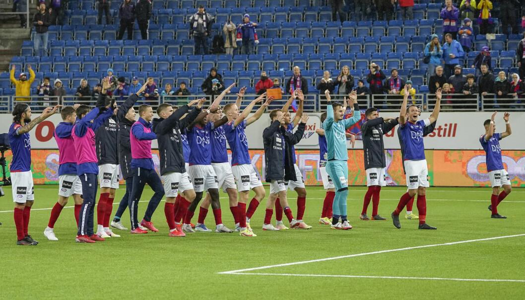 Etter fire kamper uten seier var det godt å takke lojale fans med å sende Strømsgodset til Drammen med tre baklengsmål.