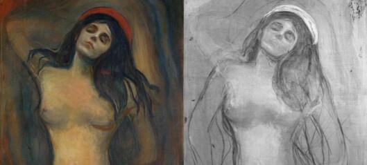 Skjult skisse oppdaget under overflaten på Edvard Munchs Madonna