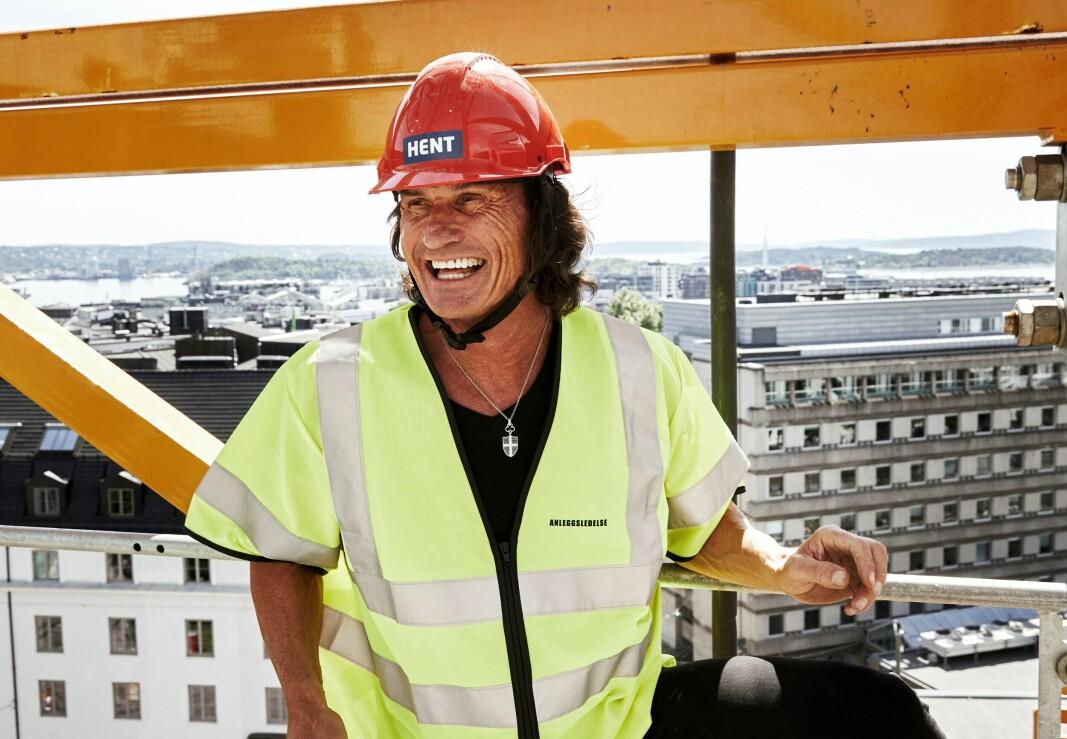 Petter Stordalen på taket av gamle Oslo Lysverker og Vestkantbadet ved Solli plass. Nå lover han frognerfolk bydelens første takrestaurant.