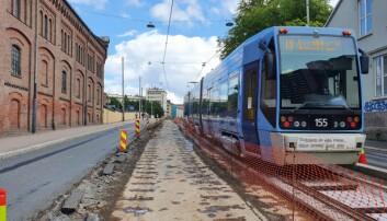 Sporveien oppgraderer trikkeskinnene i Sandakerveien. Trikkeprogrammet er i rute.
