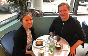 Jonas og Mirei: — Her kan vi nyte franske smaker i lokaler med franskinspirert interiør og titte ut på den flotte Fagerborg kirke