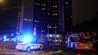 Brann på Anker Hotel nederst på Grünerløkka slukket