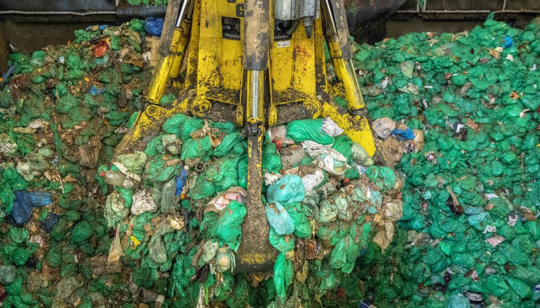 Oslo kommunes biogassanlegg i Nes på Romerike behandler kildesortert matavfall (de grønne plastposene) fra Oslos innbyggere, men nå vurderer kommunen om anlegget skal selges.