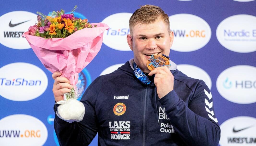 "Oskar ""Tåsenplogen"" Marvik sikret med seier i lørdagens bronsefinale Sportsklubben 09 bryting deres eneste VM medalje til nå."