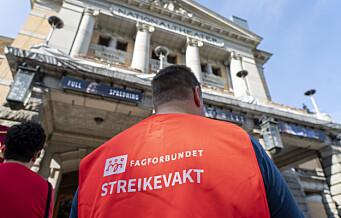 Trapper opp kulturstreik: 80 ansatte ved Nationaltheateret tas ut