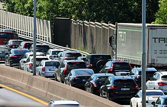 Tre biler i trafikkulykke på E6 ved Lambertseter