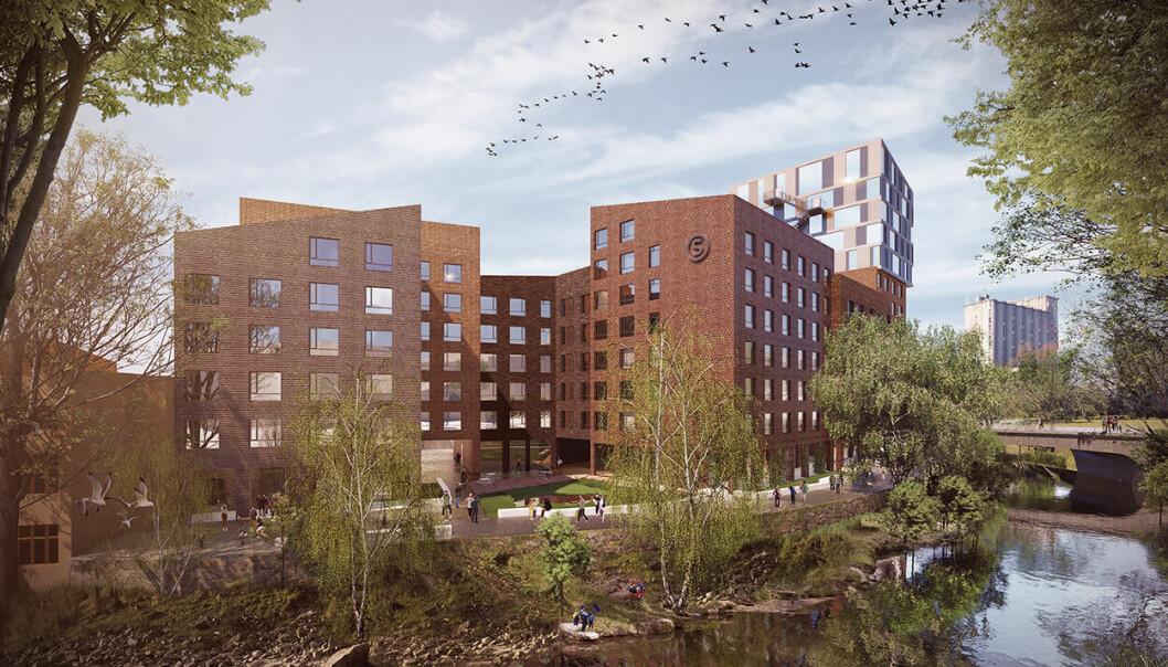Rammesøknaden for 200 nye studentboliger ved Akerselva og Grünerbrua er sendt inn. Målet er at det skal bli den første utslippsfri byggeplassen for studentboliger.
