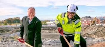 Tok første spadetak for Construction City på Ulven