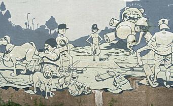 En grå og kjedelig murvegg på Bjølsen ble til et gatekunstverk nabolaget kunne være stolte av