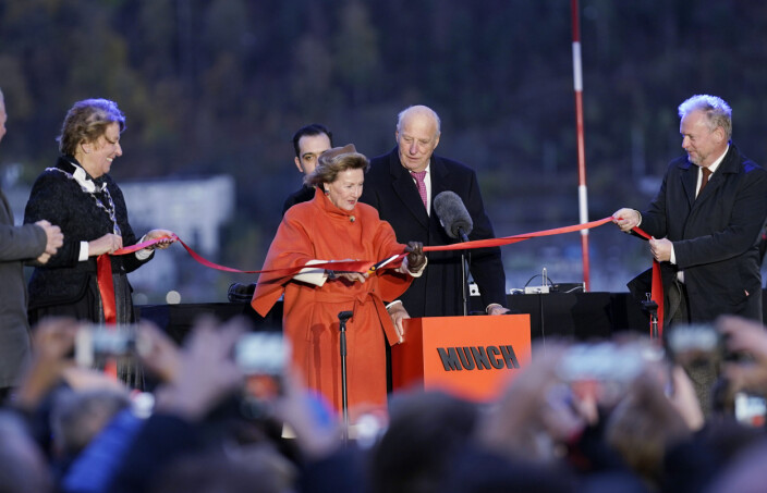 Munch-museet offisielt åpnet av Kong Harald og Dronning Sonja